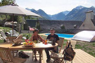 Location grange Pyrénées avec piscine privée