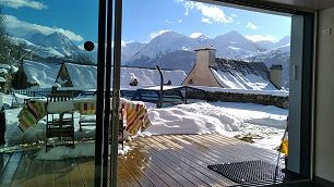 Les Granges de Jules Location grange dans les Pyrénées en hiver